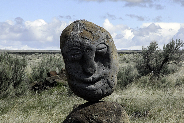 stone head in Idaho