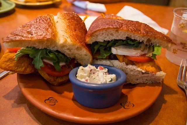 sweet potato sandwich from Wildflower Bread Co.