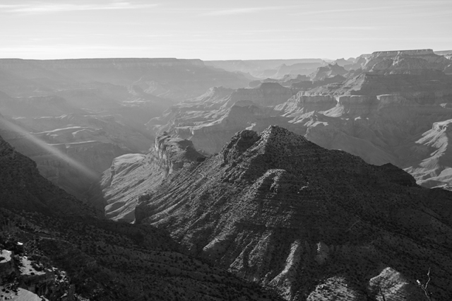 Grand Canyon in monochrome