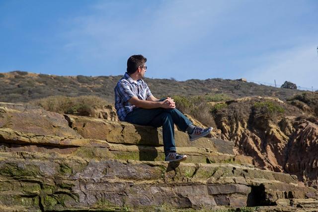 stranger sitting in sunlight