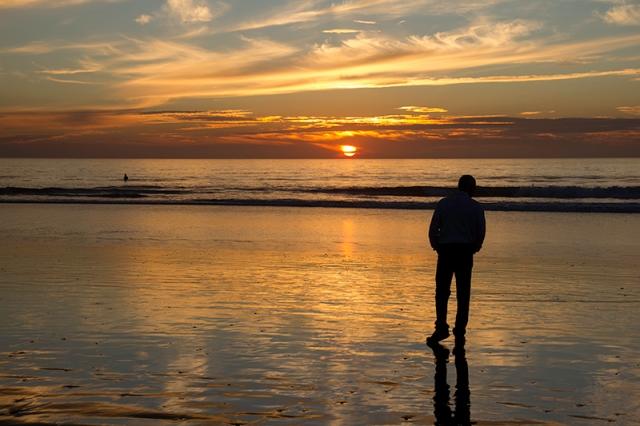Barry enjoying the sunset