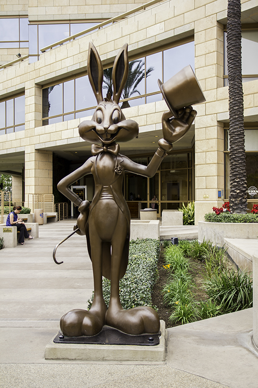 Bugs Bunny outside WB gift shop