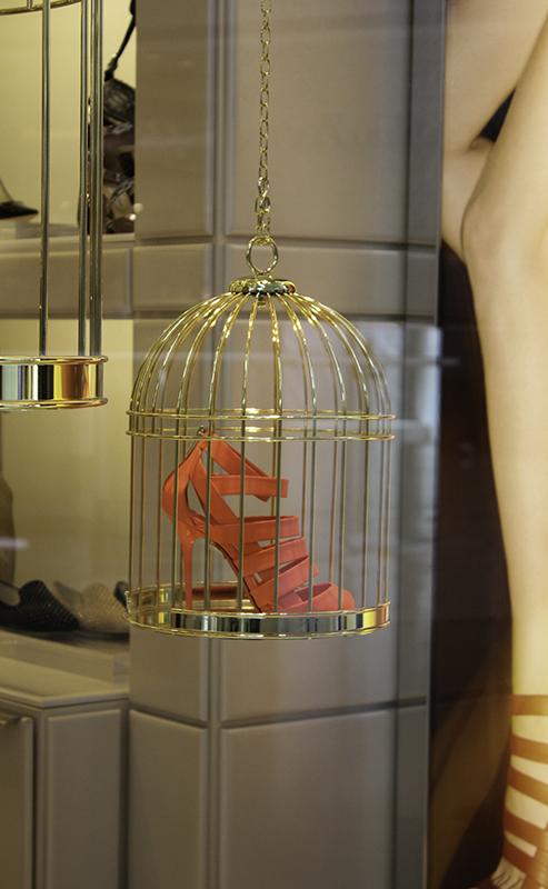 Jimmy Choo Damsen Neon Flame Nappa Leather Sandals $995.00