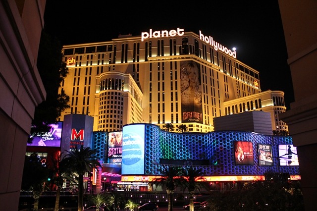 a view of our hotel - Planet Hollywood