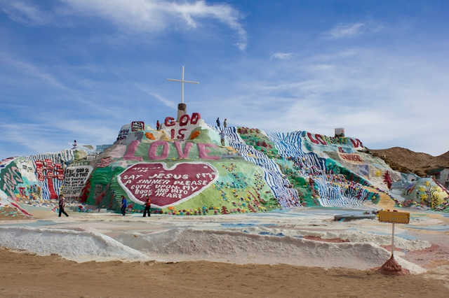 Salvation Mountain - and lots of paint