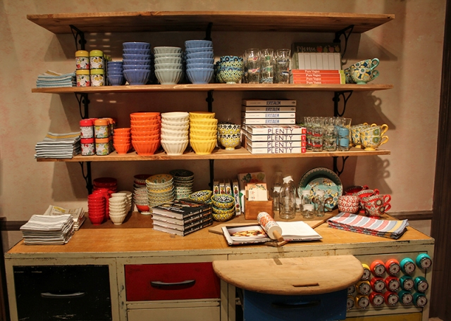 books and bowls at Anthropologie