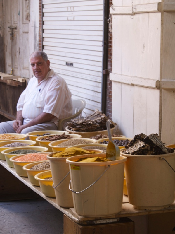 spices for sale at a souk in Manama - image from FoodAndTools.com