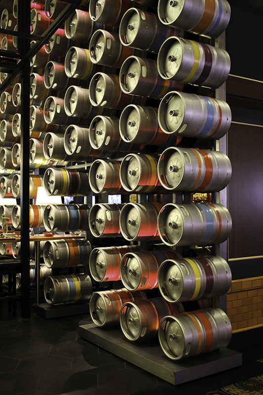 keg wall at Gordon Ramsay Pub & Grill
