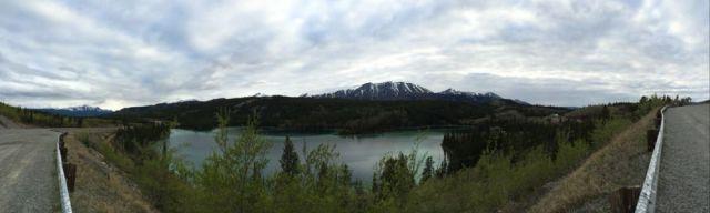 panorama of Good Hope Lake, BC