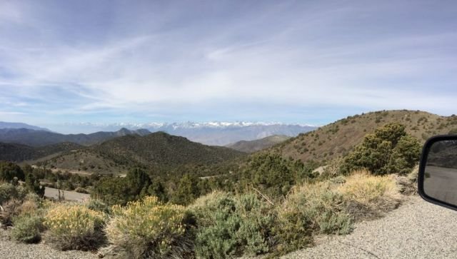 view on the way to the Bristlecone Pine Forest