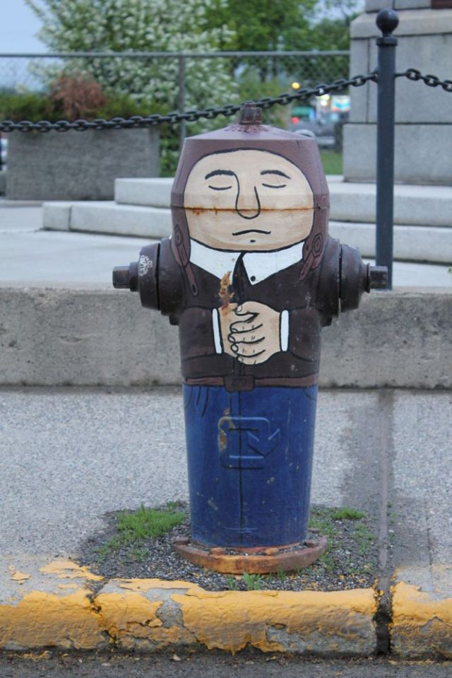 hydrant in downtown Quesnel