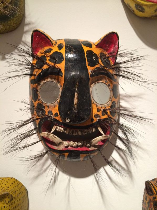 mask with boar hair and teeth
