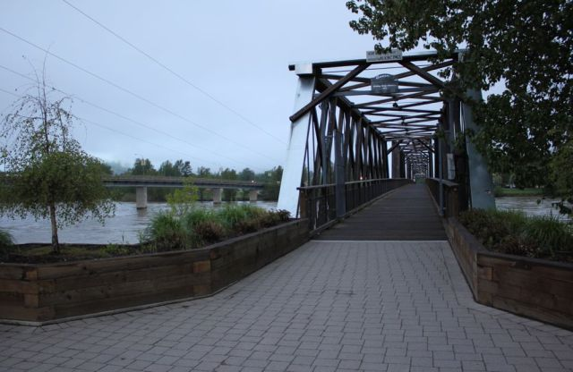 Fraser River foot bridge in Quesnel, BC