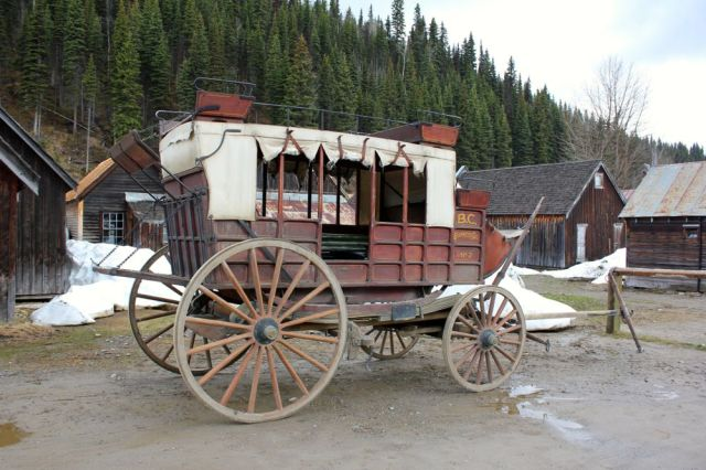 wagon in Barkerville