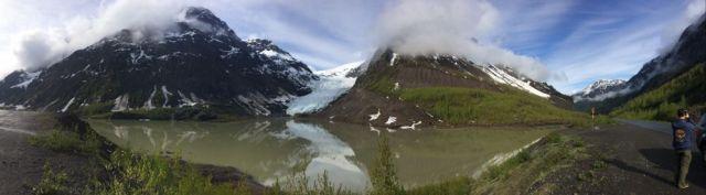 panorama of Bear Glacier