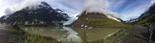 panorama of Bear Glacier