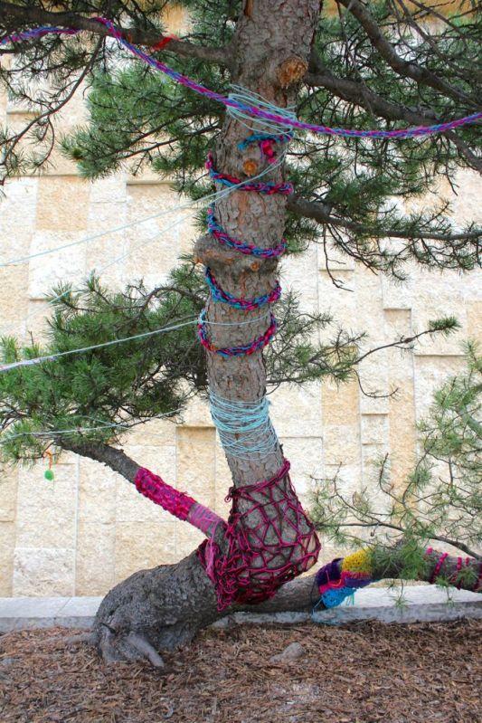 yarn tree at Royal Alberta Museum in Edmonton