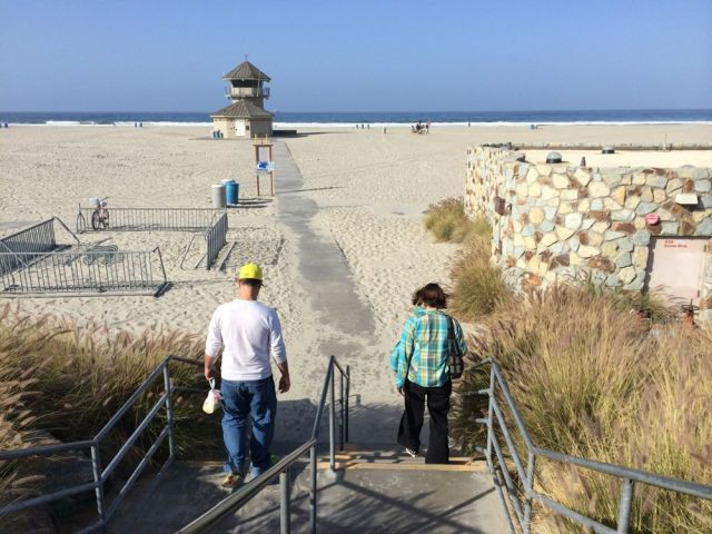 steps to Coronado Beach