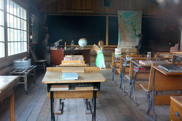 inside 108 Mile House Heritage school