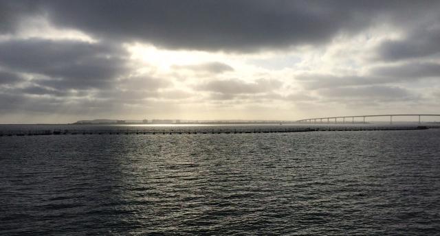 Coronado Bay Bridge on right