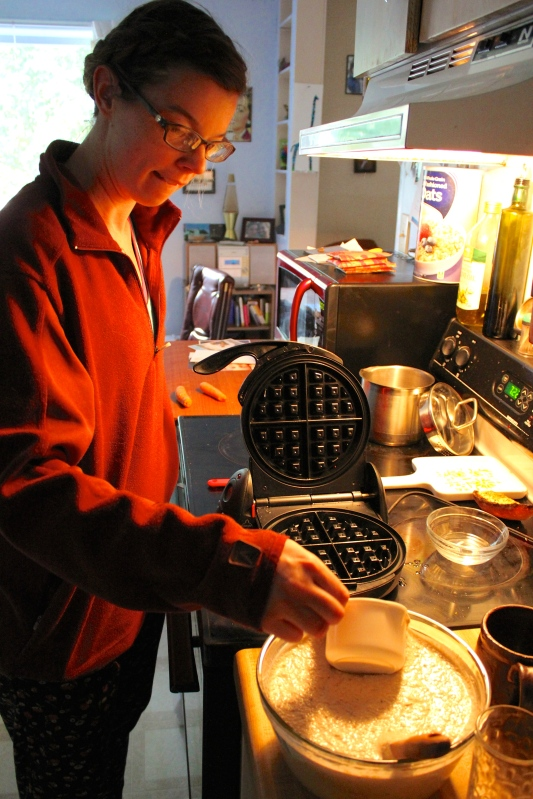 Jessi making waffles!