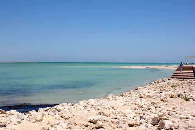 beach at Bahrain Fort