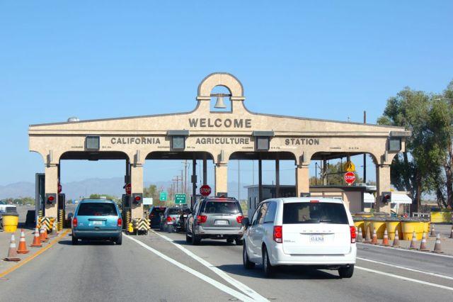 entering California via I-10