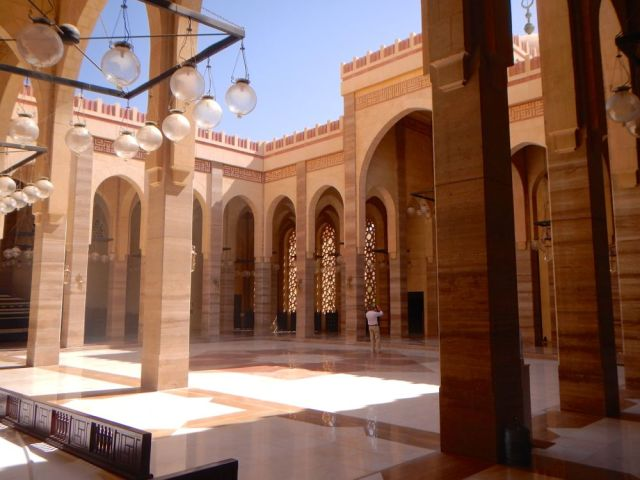 mosque courtyard - by Caleb