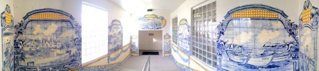mural in Lajes Field Airport