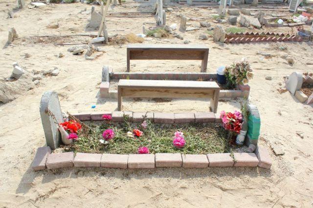 grassy grave