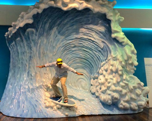 Caleb's gone surfing, surfing in Bahrain