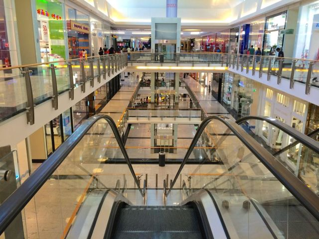 on the 2nd floor of City Centre Mall
