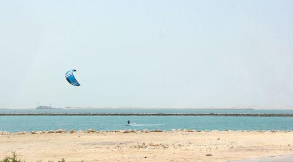 kiteboarding at Amwaj Islands