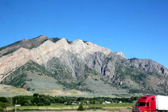Wasatch Range, I-15 south near Clearfield, UT