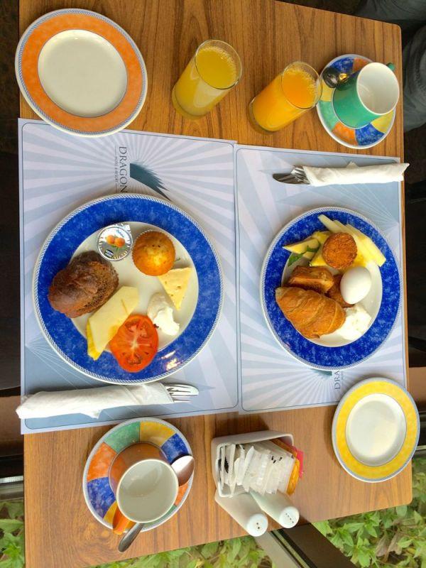 our breakfast at Yamin Jana
