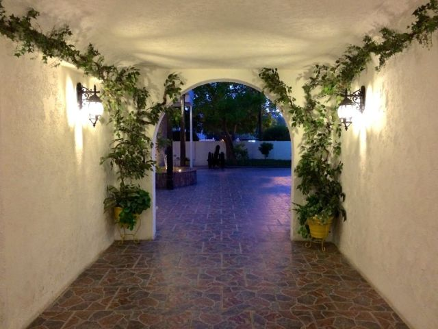 the entrance to the courtyard of Señor Paco's