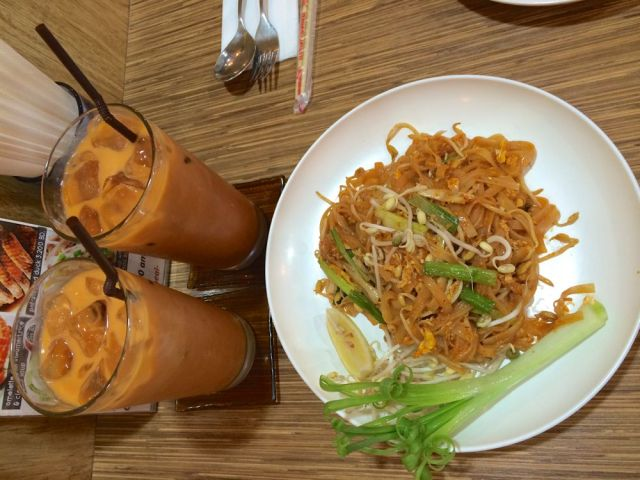 two Thai iced teas, yes please!