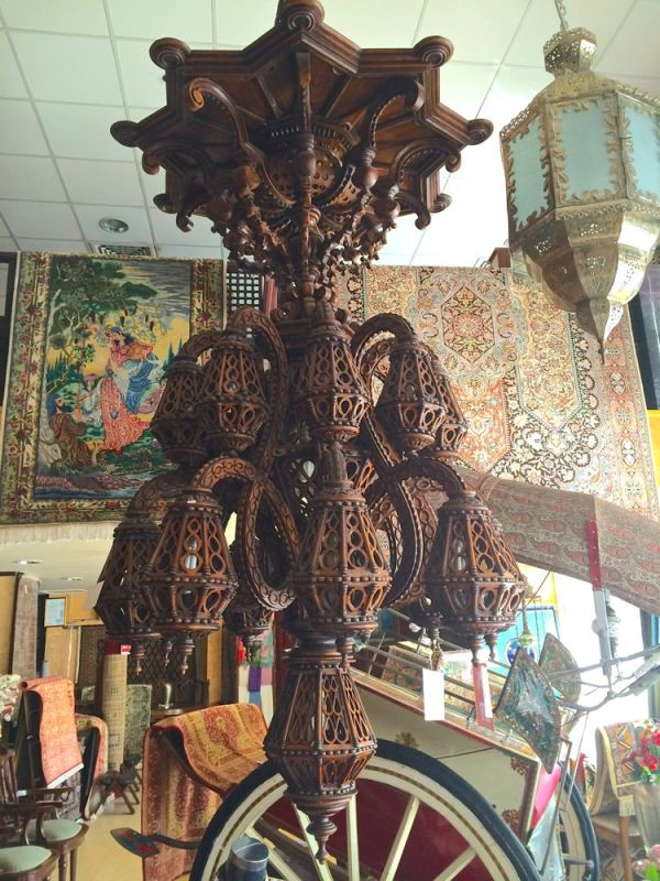 just another hand carved wooden chandelier