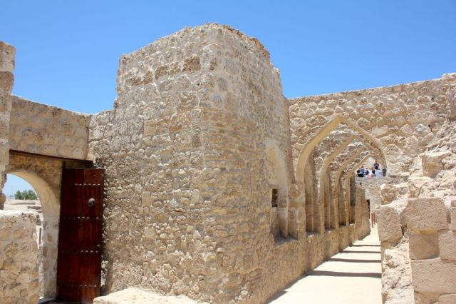 the entrance to Bahrain Fort