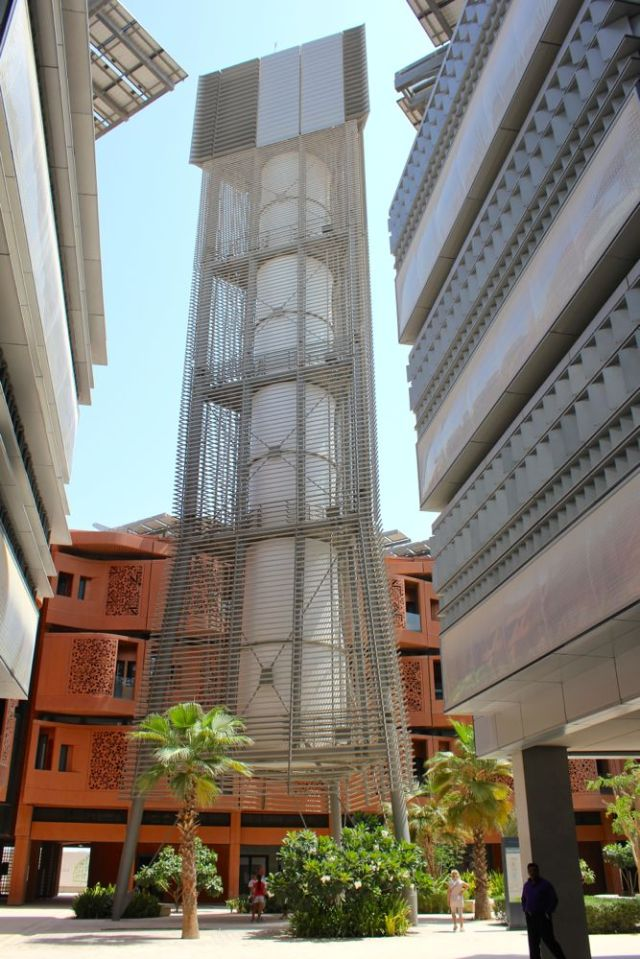 the wind tunnel in Masdar City