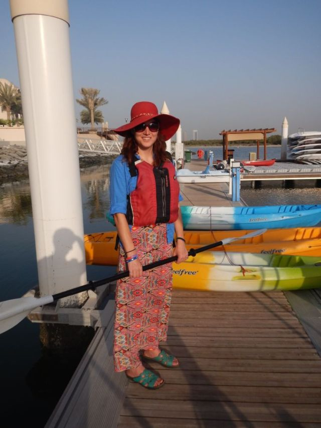 dressed up for the mangroves kayaking tour