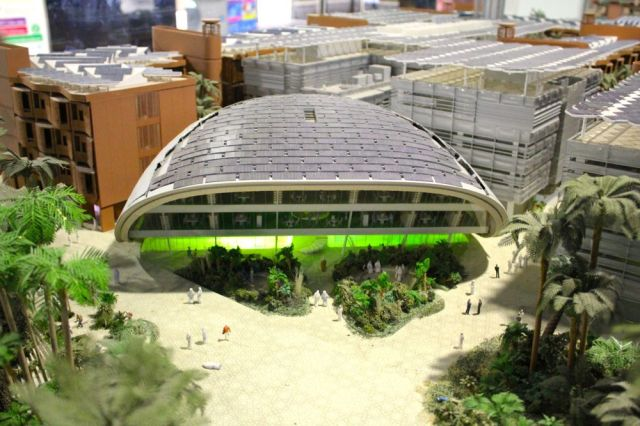model of Masdar City