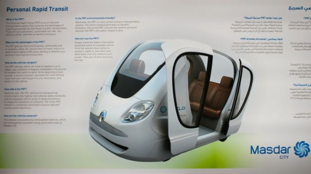 Personal Rapid Transit - the car of Masdar City