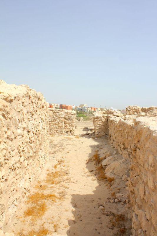 between the walls