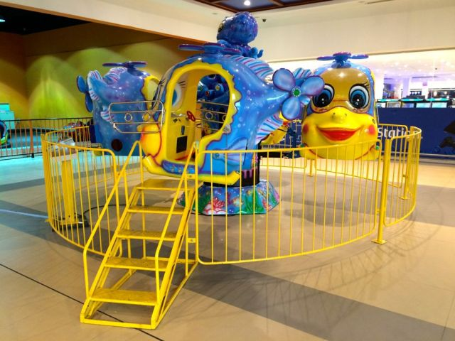 one of the many rides inside Seef Mall