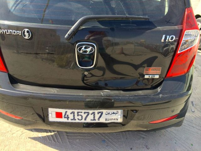 second damaged rental car