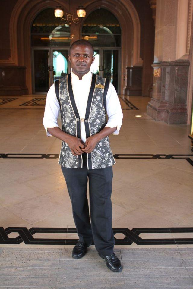 Sir Blasius looking good in the uniform at Emirates Palace