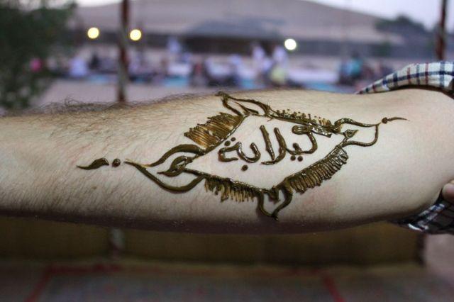 Caleb's manly henna tattoo