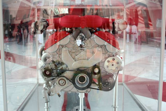 engine on display