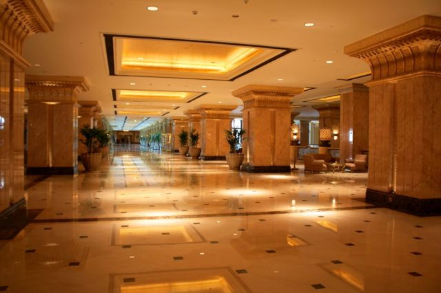 hallway to the East Wing in Emirates Palace